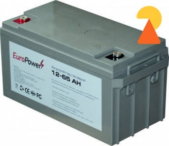 Гелевий акумулятор EuroPower GL-12-65 AH
