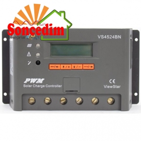 Контроллер, ШИМ 30А 12/24/36/48В с дисплеем, (VS3048BN), EPsolar(EPEVER)