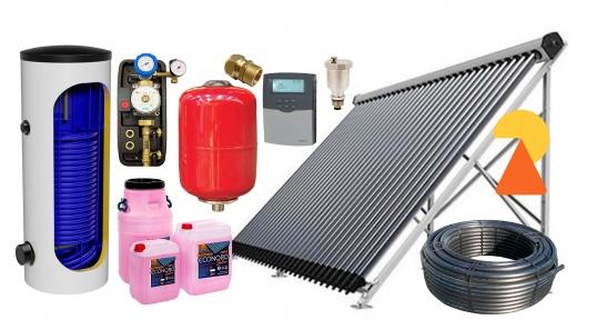 Геліосистема для підігріву води на 500л №2