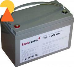 Гелевий акумулятор EuroPower GL-12-100 AH