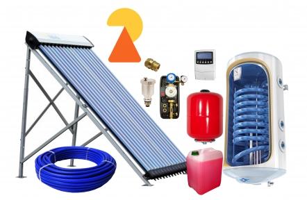Геліосистема для підігріву води на 100л