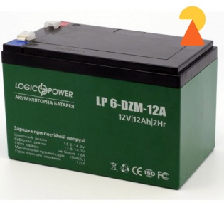 Тяговий акумулятор LogicPower LP-6-DZM-12 AH