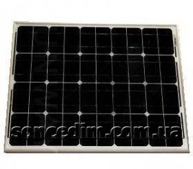 Сонячна батарея (монокристал), 50W, 12V,  Altek ALM-50M