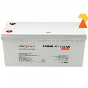 Гелевий акумулятор LogicPower LPM-GL-12-200 AH