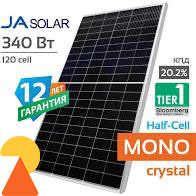 Сонячна панель Ja Solar JAM60S10-340M