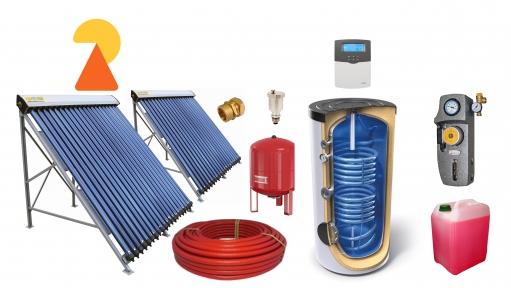 Геліосистема для підігріву води на 500л