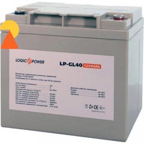 Гелевий акумулятор LogicPower LP-GL-12-40 AH