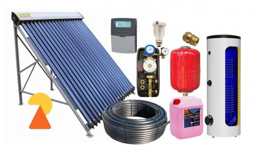 Геліосистема для підігріву води на 300л