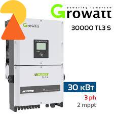 Мережевий інвертор Growatt 30000 TL3-S  - 30кВт
