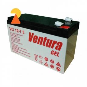 Гелевий акумулятор Ventura VG-12-7.5 AH