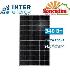 Сонячна панель Inter Energy IE158-60M-H-340M, 5BB, half-cell