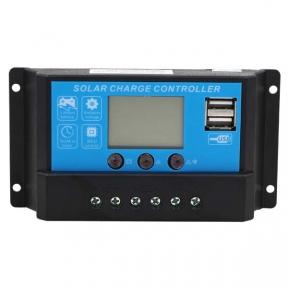 Контролер 10А 12В/24В з дисплеєм + USB гніздо (Модель-DY1024), JUTA