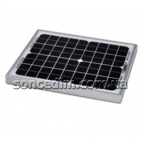 Сонячна батарея (монокристал), 10W, 12V,  Altek ALM-10M